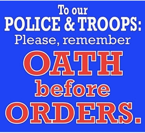 Honor your oath!