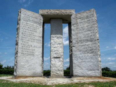 Georgia guide stones: map to an extremely sick society.