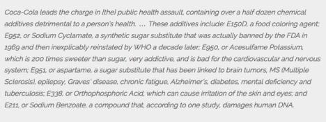 Coca Cola's Poison
